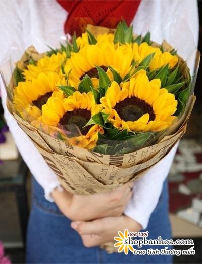 hoa huong duong   tri an thay co ngay 20 11   shop hoa tuoi ben tre